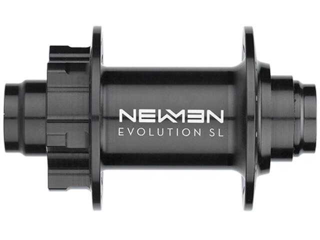 NEWMEN MTB SL Moyeu avant 20x110 mm J-Bend 6 boulons, black anodized/grey